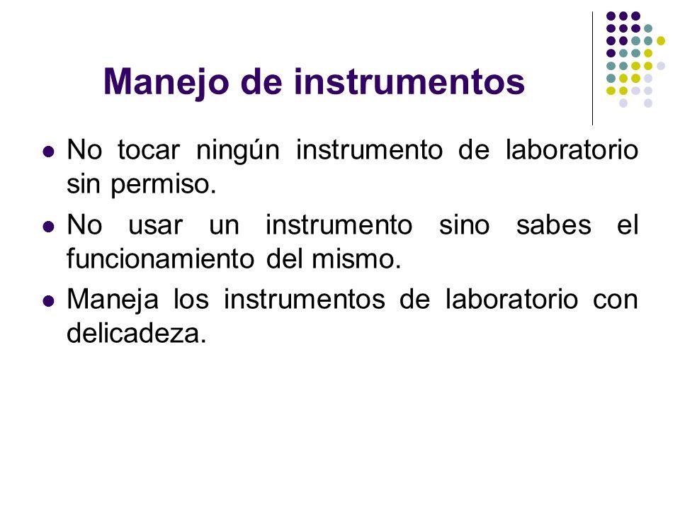 Manejo de instrumentos