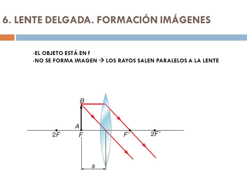 6. LENTE DELGADA. FORMACIÓN IMÁGENES