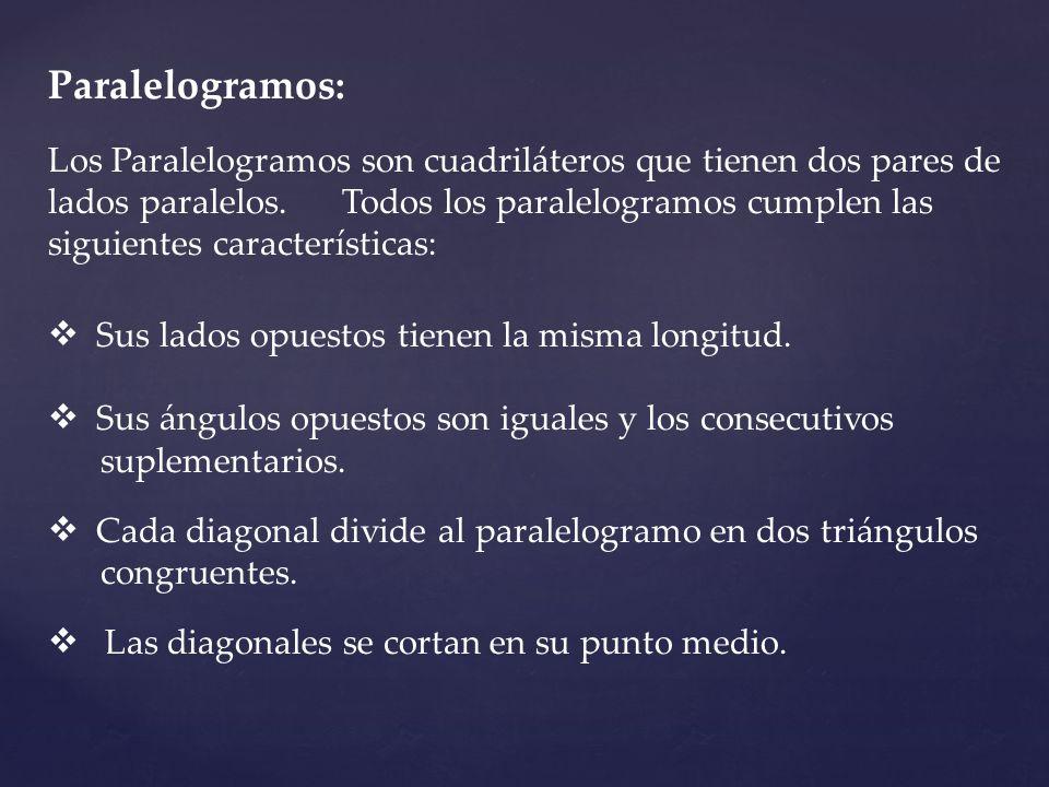 Paralelogramos: