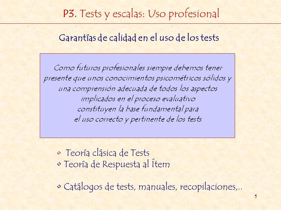 Garantías de calidad en el uso de los tests