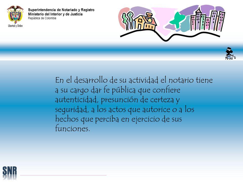 Superintendencia de notariado y registro ministerio del for Cambios en el ministerio del interior