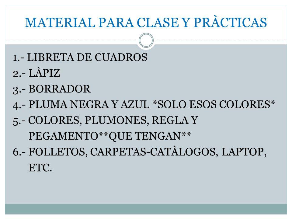 MATERIAL PARA CLASE Y PRÀCTICAS