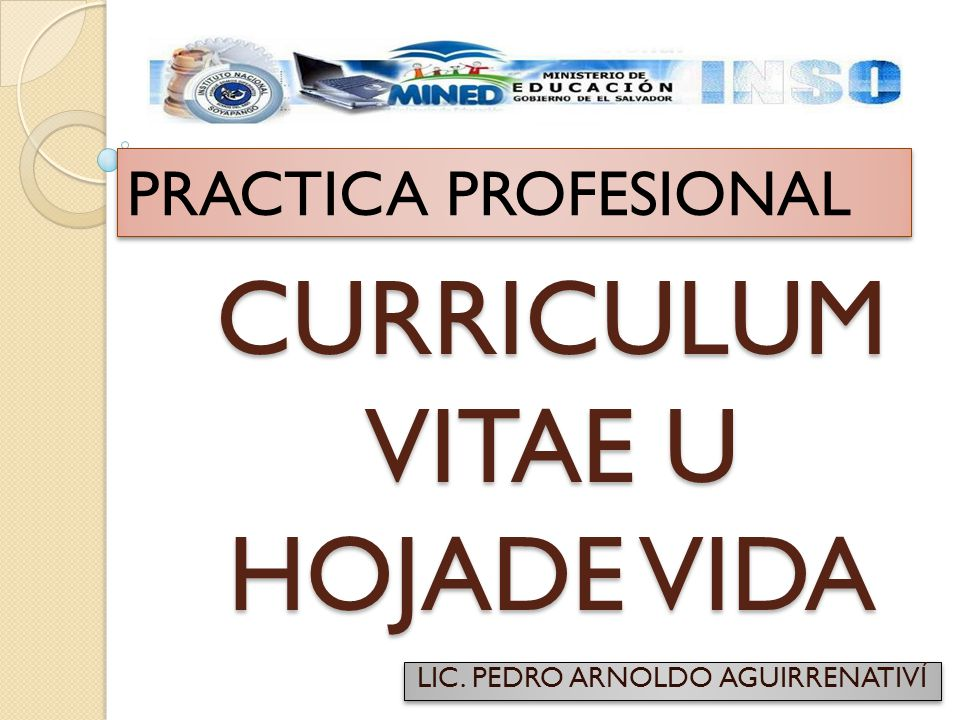 Curriculum Vitae U Hojade Vida Ppt Video Online Descargar