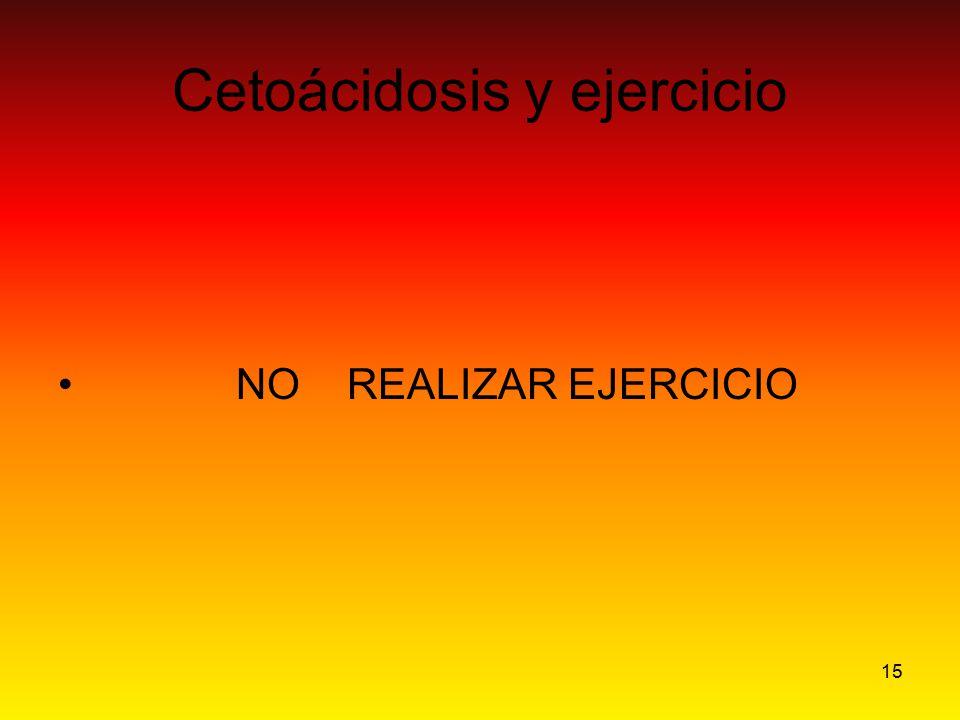 Cetoácidosis y ejercicio