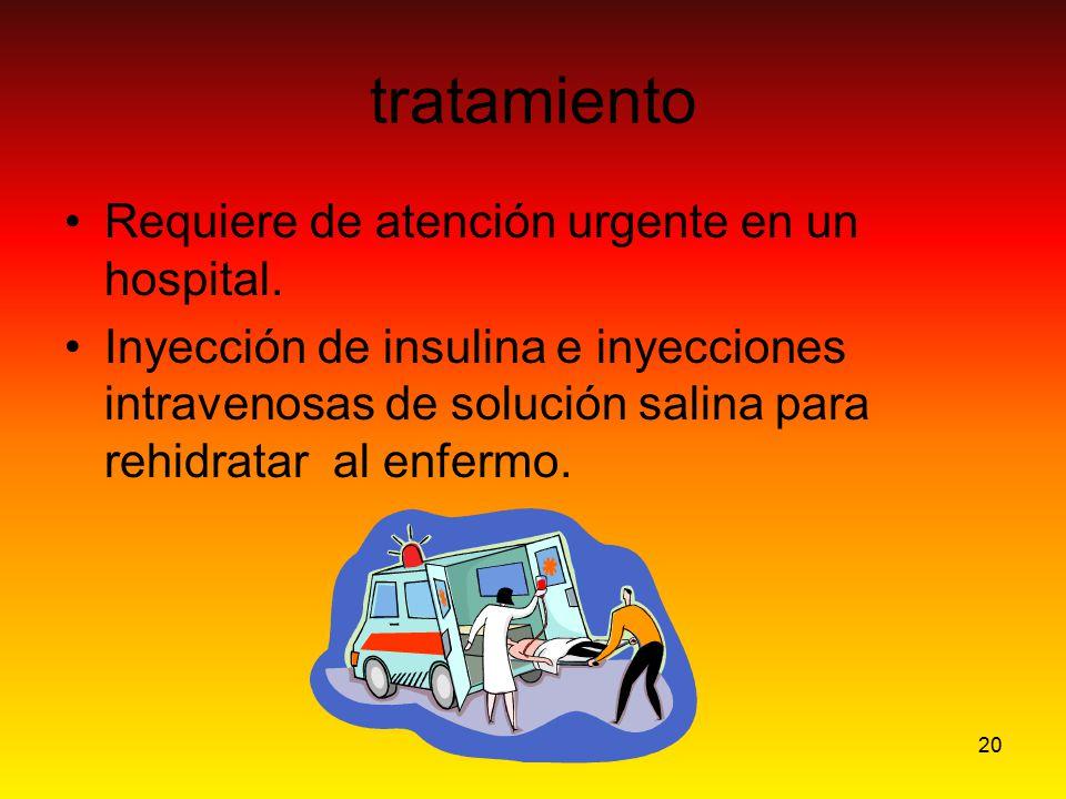 tratamiento Requiere de atención urgente en un hospital.