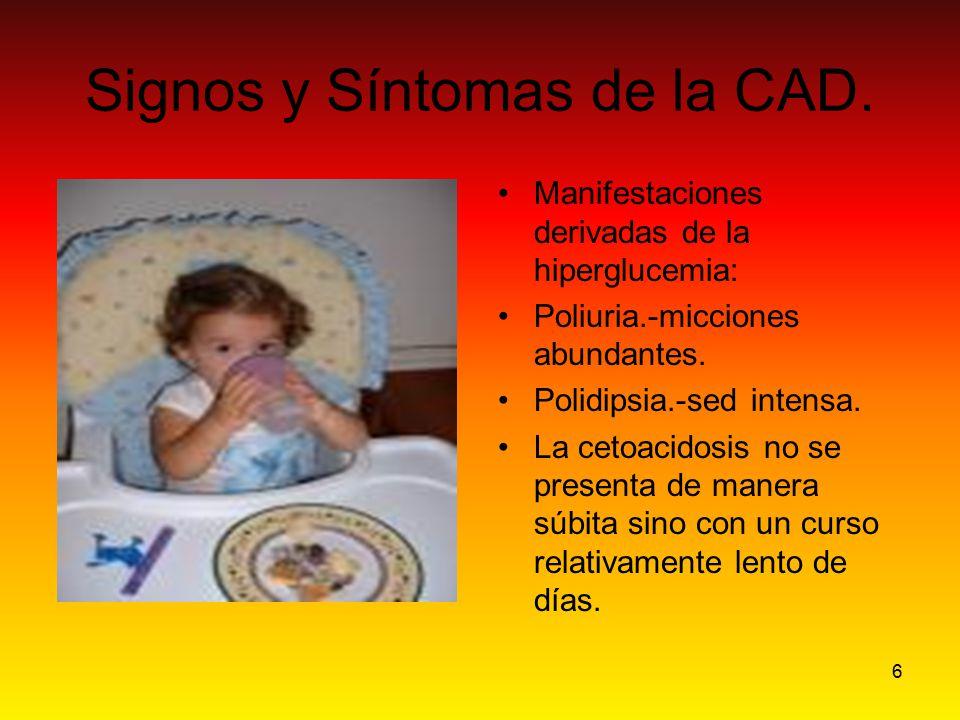 Signos y Síntomas de la CAD.
