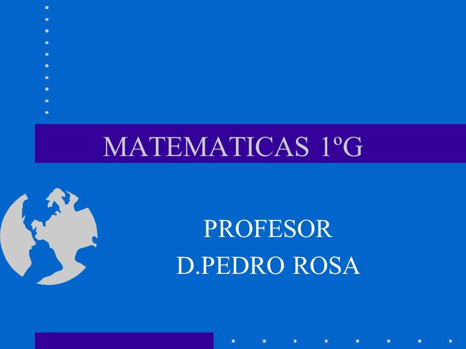 MATEMATICAS 1ºG PROFESOR D.PEDRO ROSA
