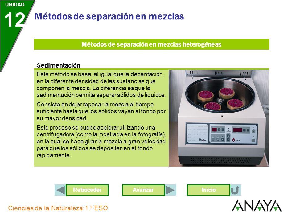 Métodos de separación en mezclas heterogéneas