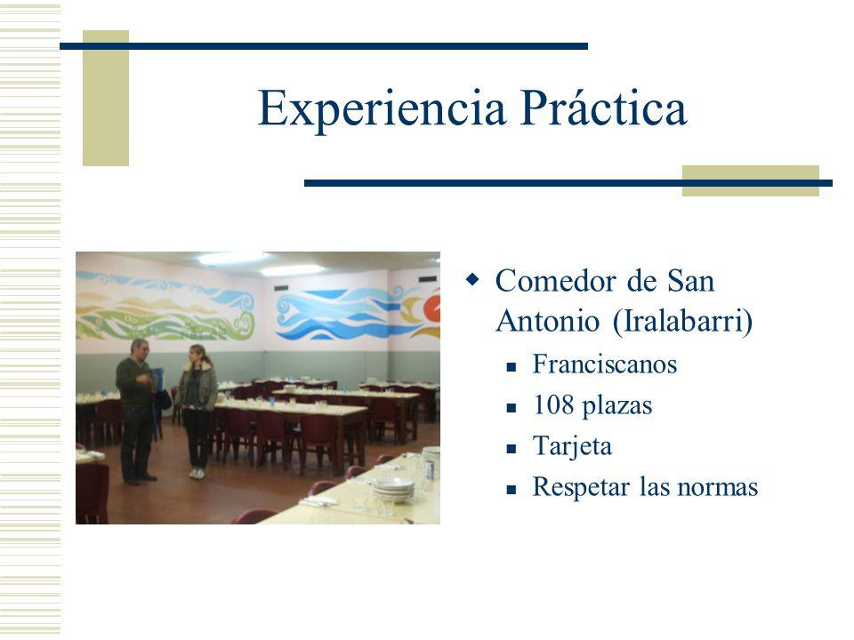 Experiencia Práctica Comedor de San Antonio (Iralabarri) Franciscanos