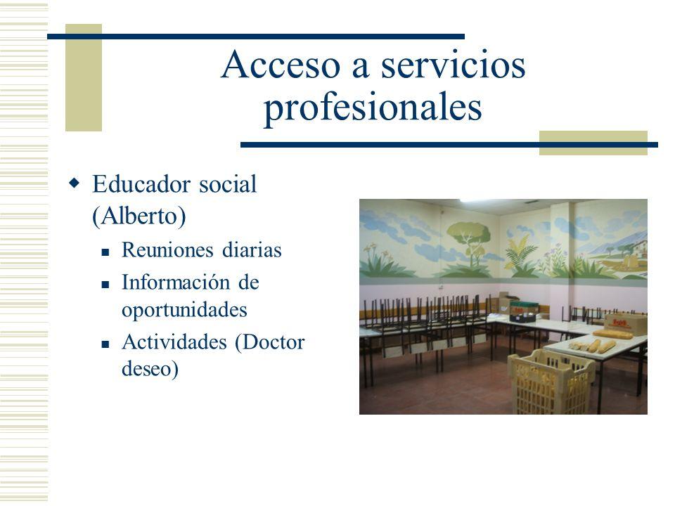 Acceso a servicios profesionales