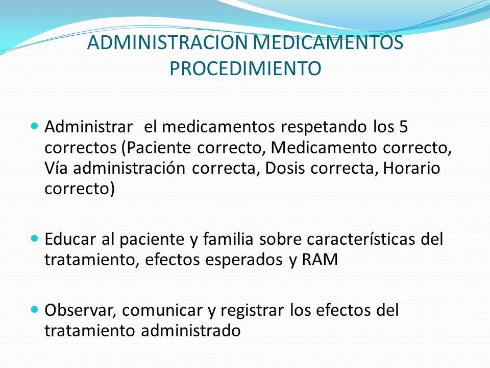 ADMINISTRACION MEDICAMENTOS PROCEDIMIENTO