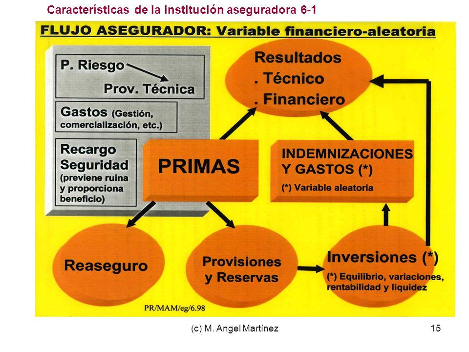 Características de la institución aseguradora 6-1