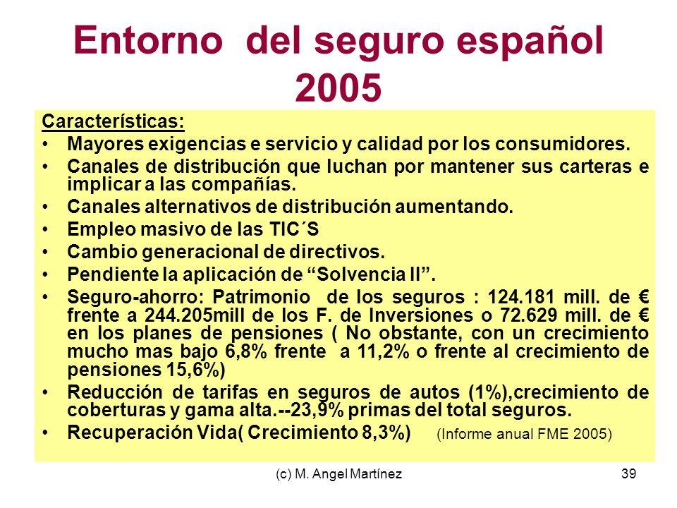 Entorno del seguro español 2005