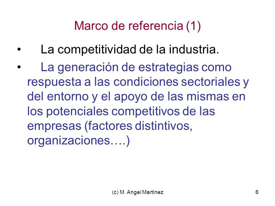 La competitividad de la industria.