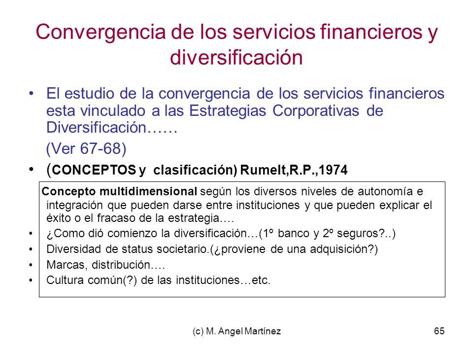 Convergencia de los servicios financieros y diversificación
