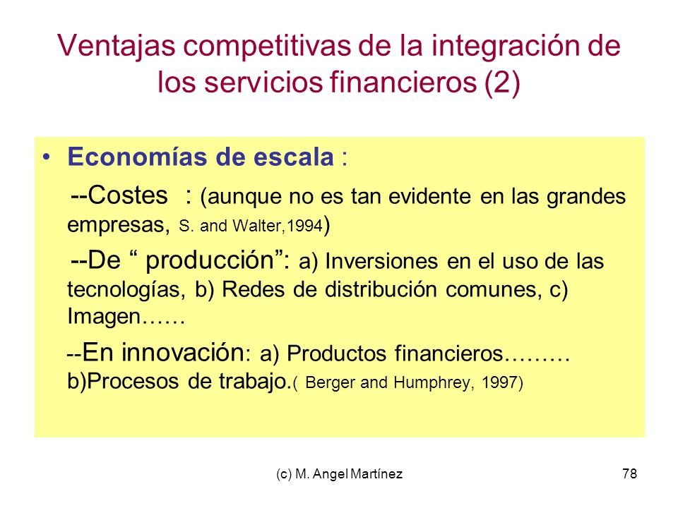 Ventajas competitivas de la integración de los servicios financieros (2)