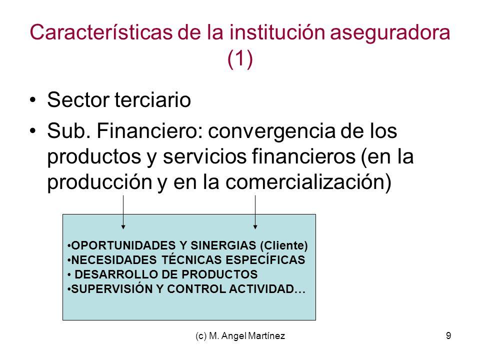 Características de la institución aseguradora (1)
