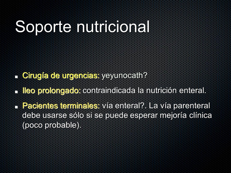 Soporte nutricional Cirugía de urgencias: yeyunocath