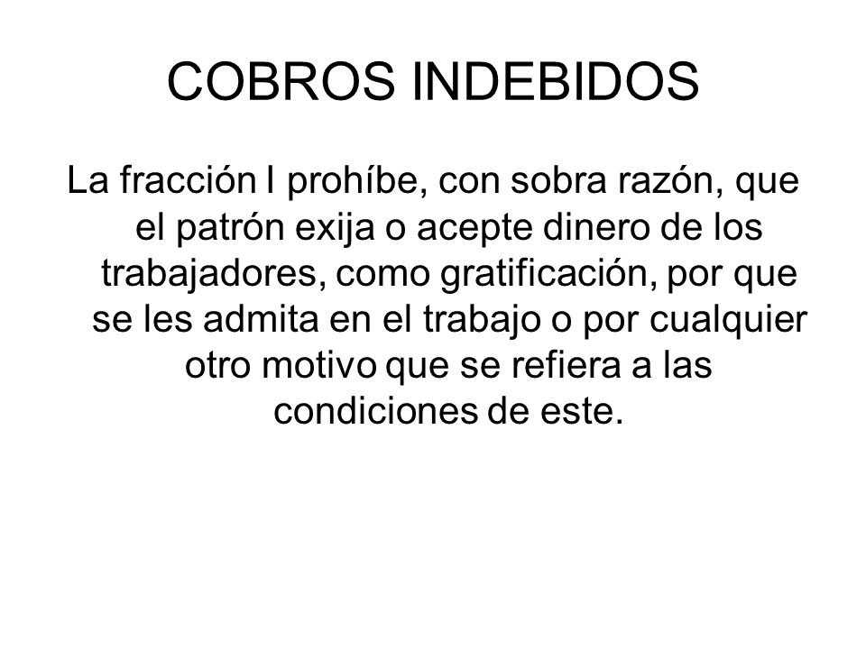 COBROS INDEBIDOS