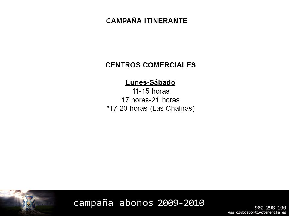 *17-20 horas (Las Chafiras)