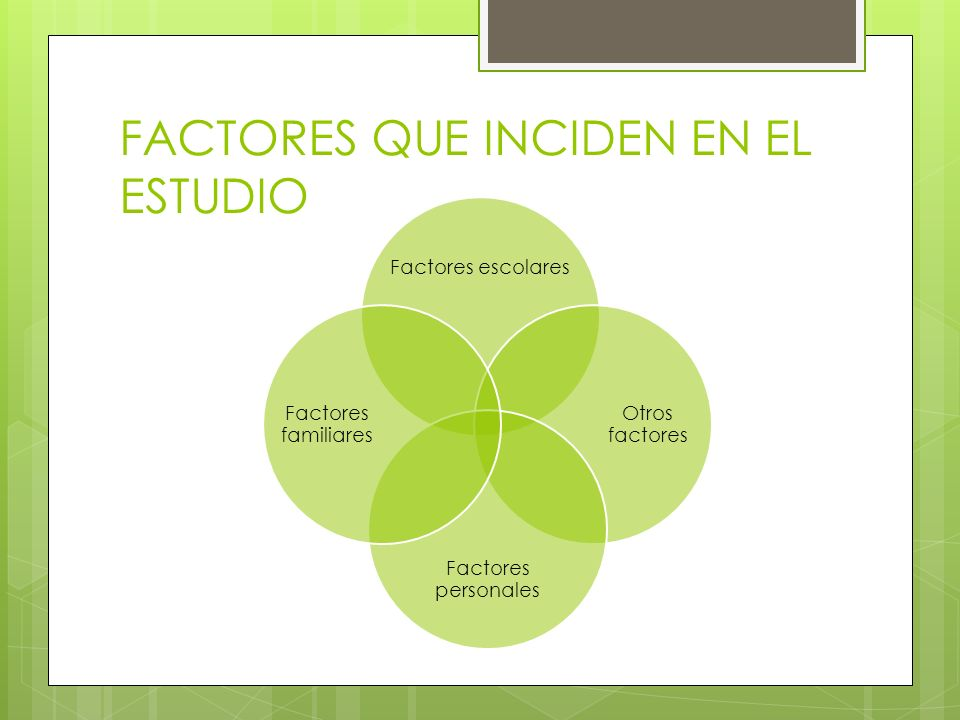 FACTORES QUE INCIDEN EN EL ESTUDIO