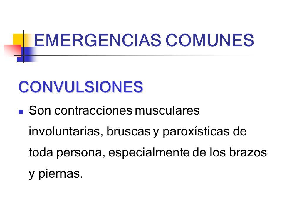 EMERGENCIAS COMUNES CONVULSIONES