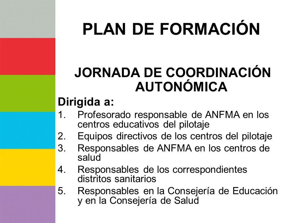 JORNADA DE COORDINACIÓN AUTONÓMICA