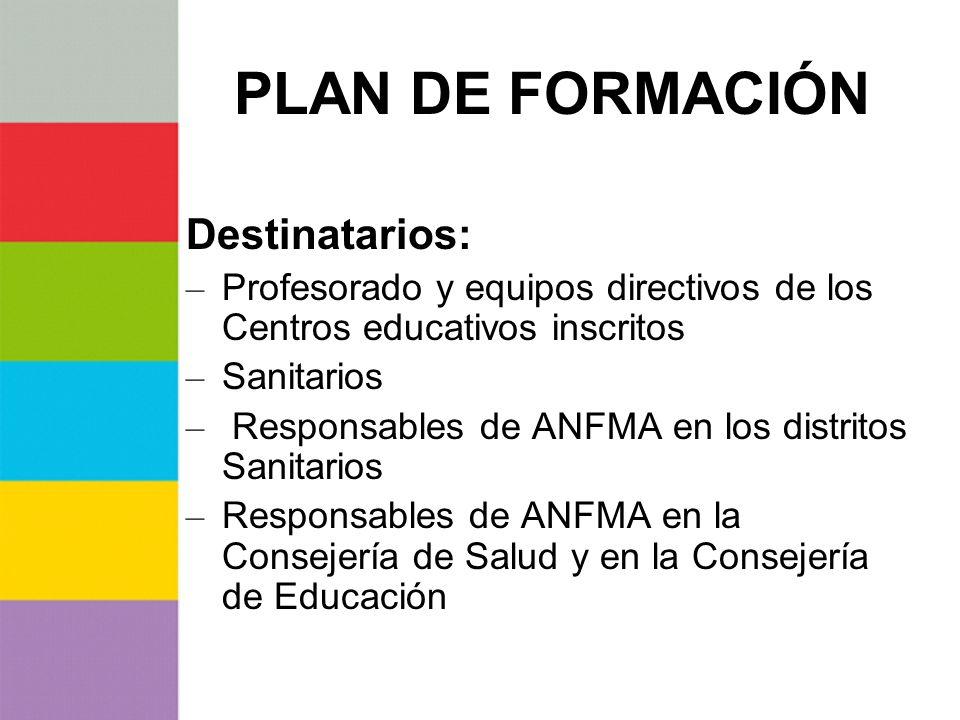 PLAN DE FORMACIÓN Destinatarios: