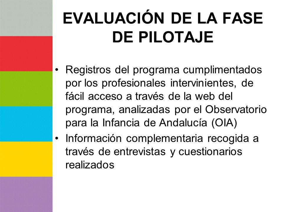 EVALUACIÓN DE LA FASE DE PILOTAJE