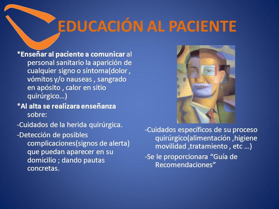 EDUCACIÓN AL PACIENTE