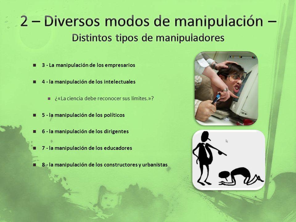 2 – Diversos modos de manipulación – Distintos tipos de manipuladores