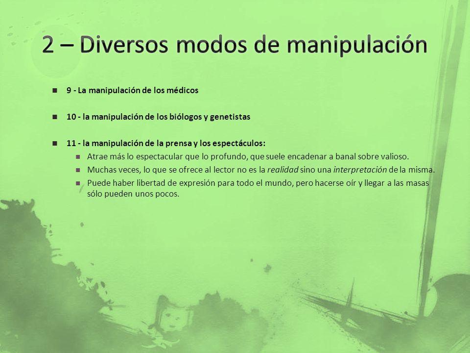 2 – Diversos modos de manipulación