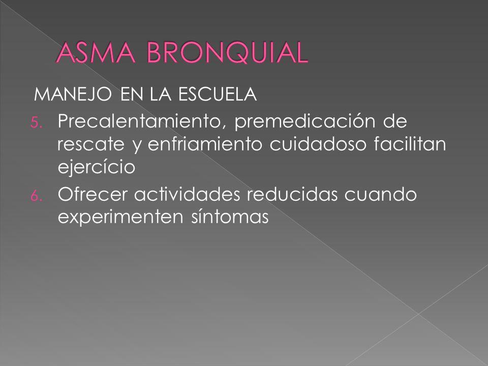 ASMA BRONQUIAL MANEJO EN LA ESCUELA