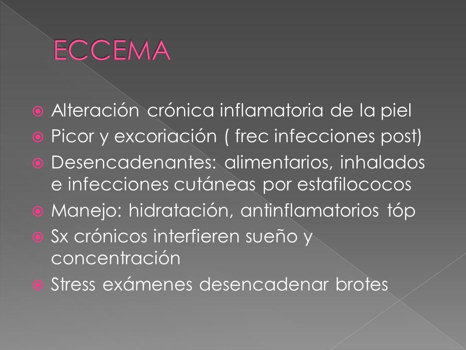 ECCEMA Alteración crónica inflamatoria de la piel