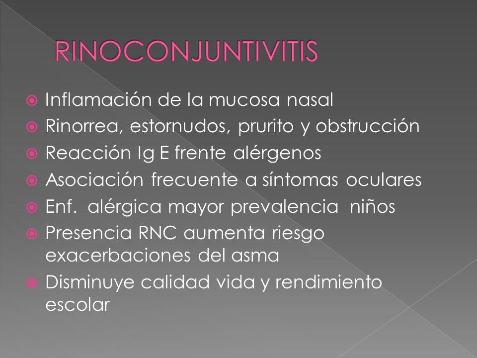 RINOCONJUNTIVITIS Inflamación de la mucosa nasal