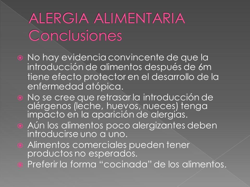 ALERGIA ALIMENTARIA Conclusiones