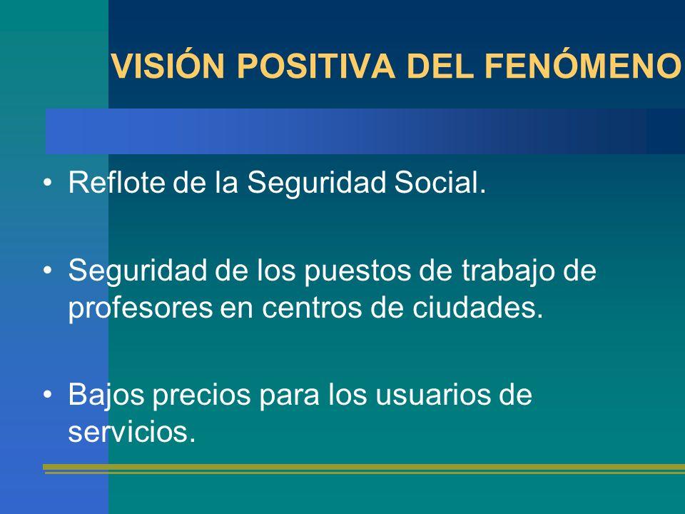 VISIÓN POSITIVA DEL FENÓMENO