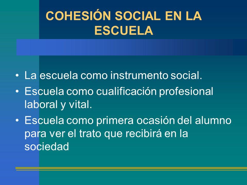 COHESIÓN SOCIAL EN LA ESCUELA