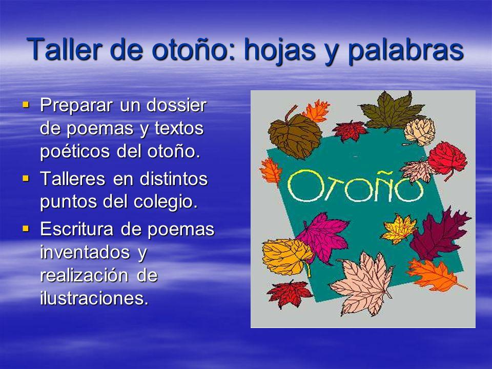 Taller de otoño: hojas y palabras