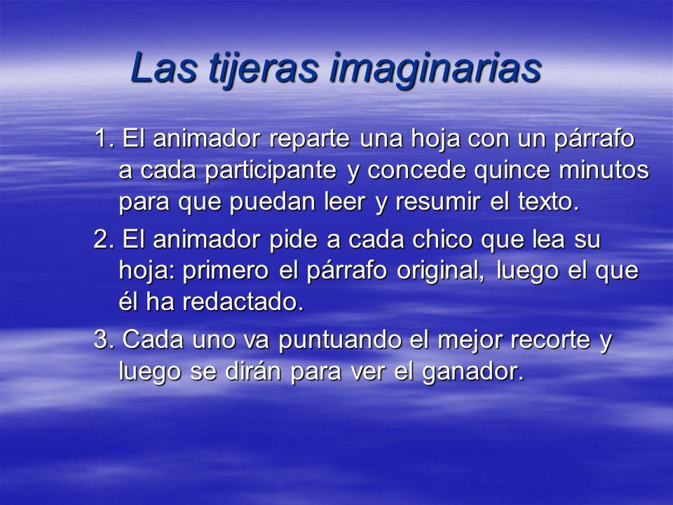 Las tijeras imaginarias