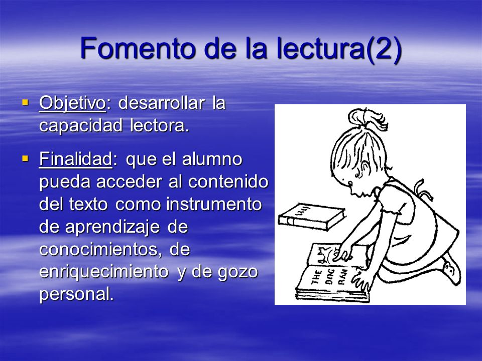 Fomento de la lectura(2)