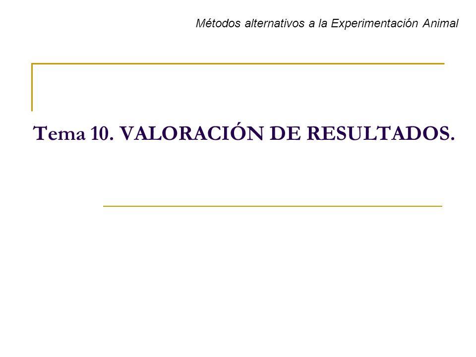 Tema 10. VALORACIÓN DE RESULTADOS.