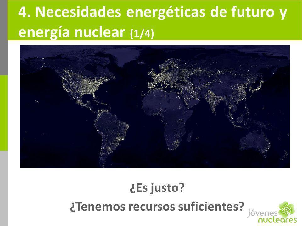 4. Necesidades energéticas de futuro y energía nuclear (1/4)