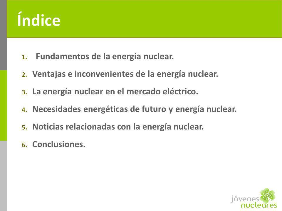 Índice Fundamentos de la energía nuclear.