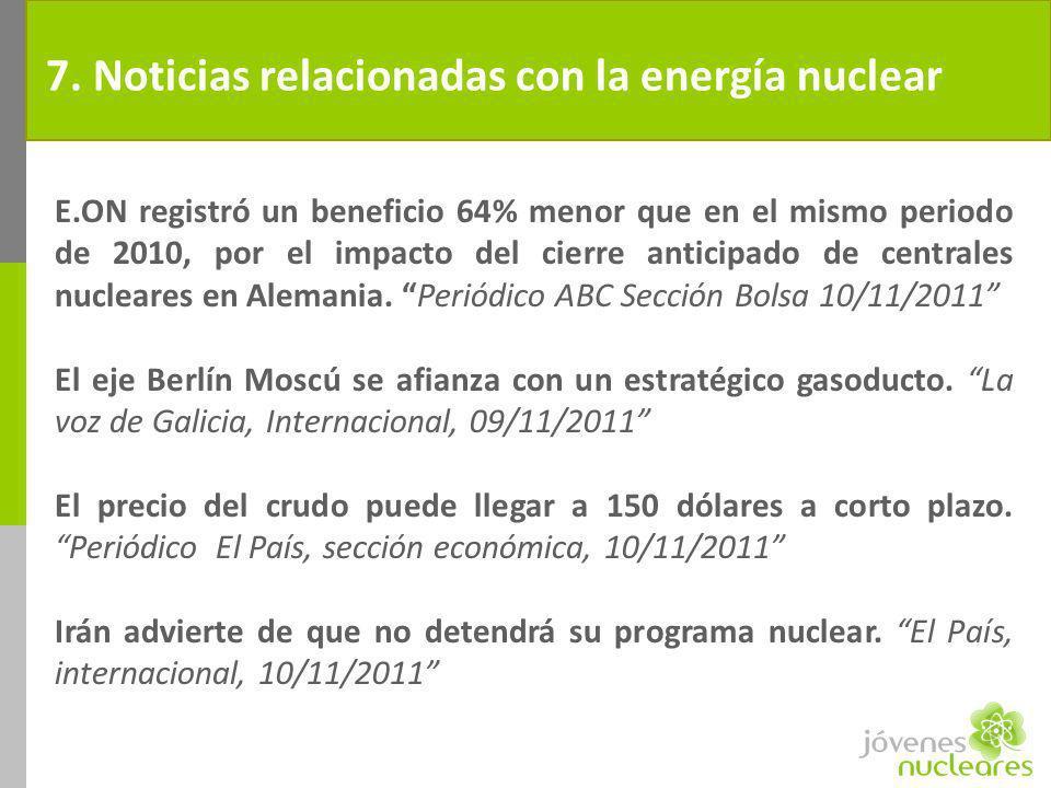 7. Noticias relacionadas con la energía nuclear