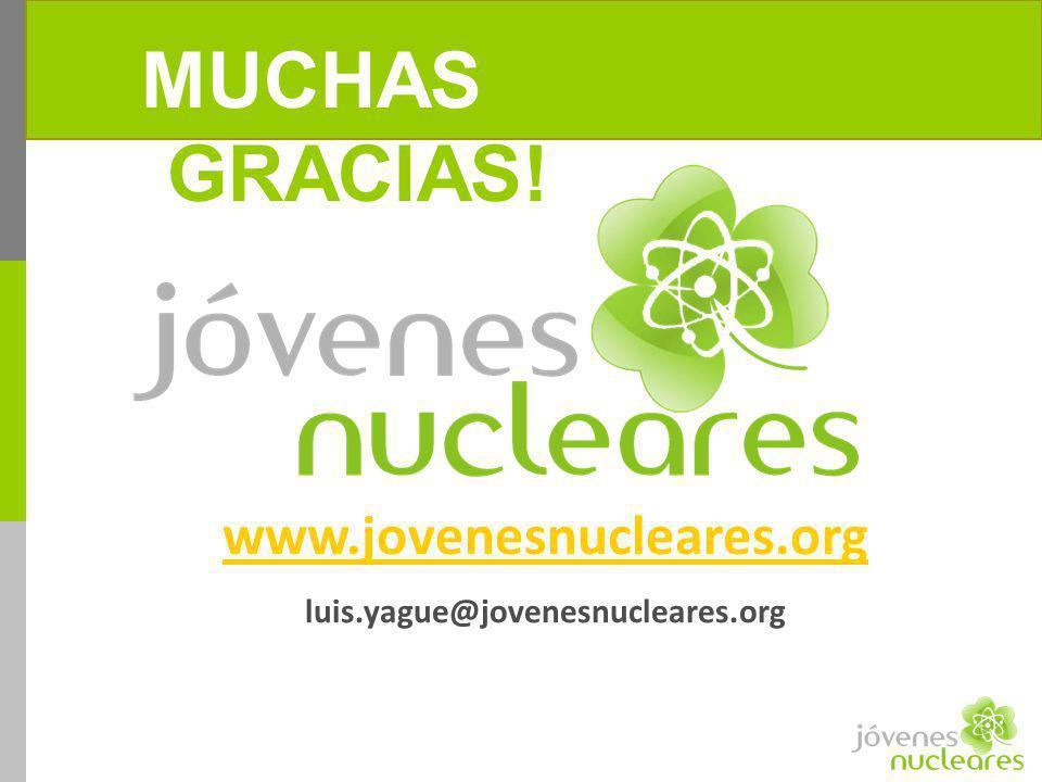 ¡MUCHAS GRACIAS! www.jovenesnucleares.org