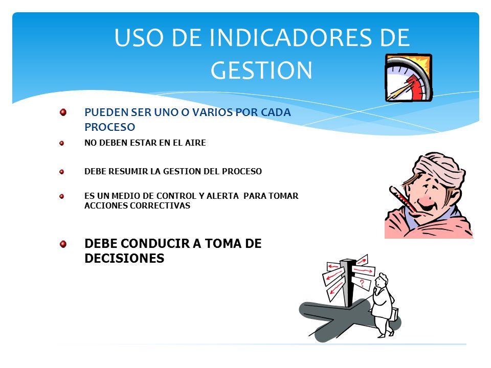 USO DE INDICADORES DE GESTION