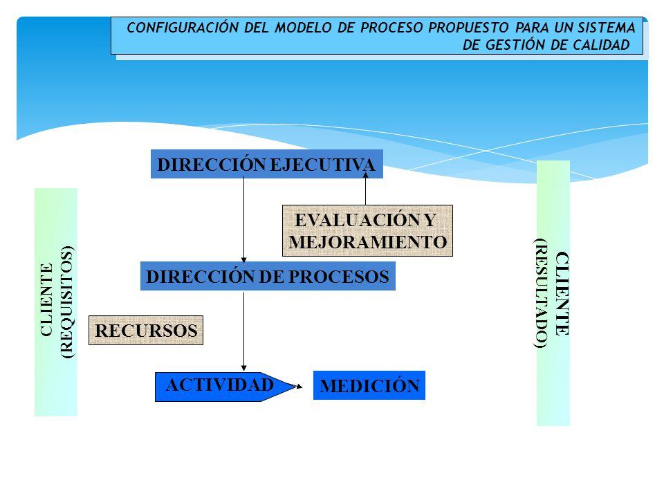 DIRECCIÓN EJECUTIVA EVALUACIÓN Y MEJORAMIENTO DIRECCIÓN DE PROCESOS