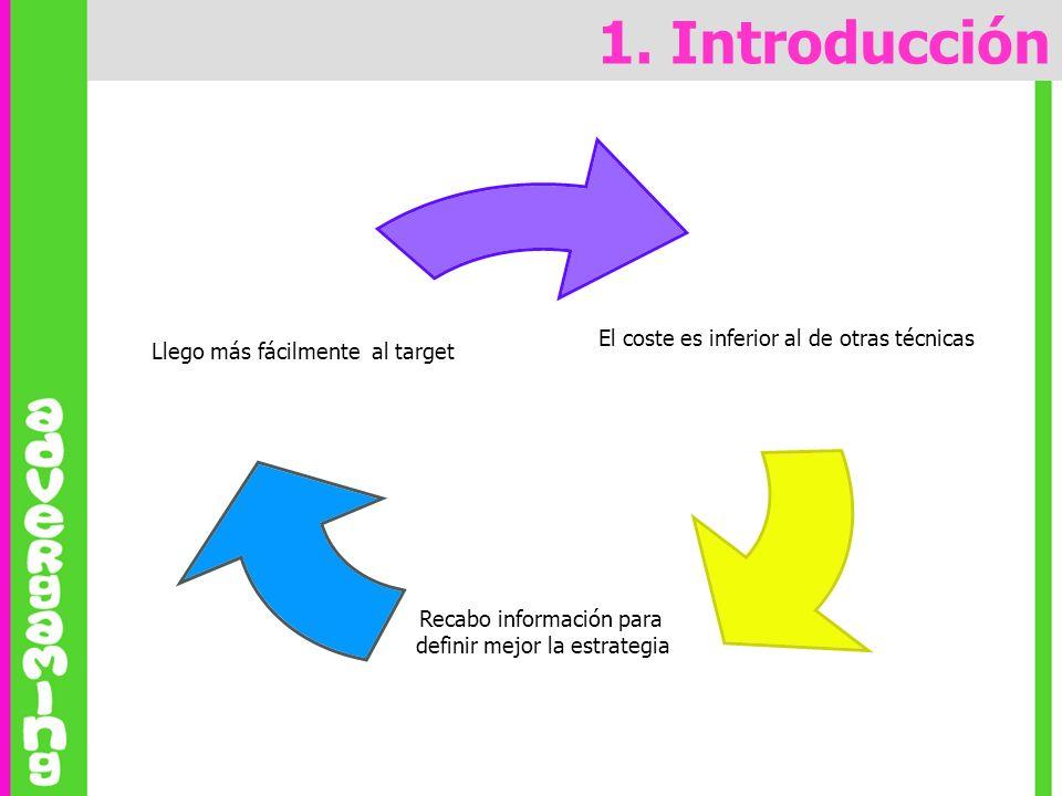 1. Introducción Llego más fácilmente al target (-saturación, +atractivo, entorno lúdico,…)