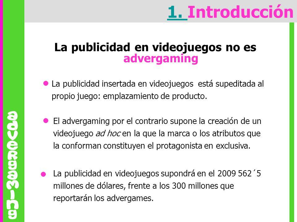 La publicidad en videojuegos no es advergaming